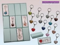 Voucher for a keychain with glassheart